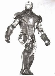 pencil sketch of iron man because he u0027s awesome imgur