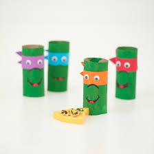 cardboard tube ninja turtles fun family crafts