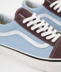 light blue vans shoes vans old skool 36 dx anaheim factory shoes brown light blue