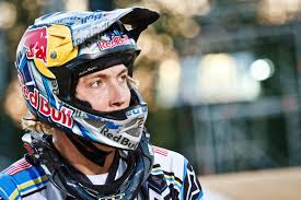 red bull helmet motocross bmx champ surprises in downhill mtb race