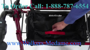 Transport Walker Chair 4 Wheel Lightweight Transport Wheelchair Walker Combo Youtube