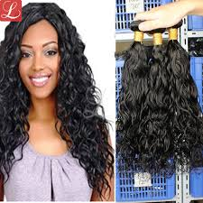 good wet and wavy human hair wet and wavy weave hair extensions 3 bundles of filipino hair for