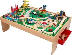 wooden train set table go kids play parent s top rated best toy trains sets for kids of