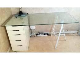 plateau verre trempé bureau plateau bureau en verre table de salle a manger ou bureau de travail