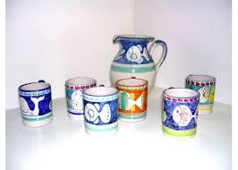 bicchieri in ceramica set bicchieri ceramica artistica sorrentina