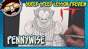 lesson preview how to draw pennywise the clown it 2017 movie
