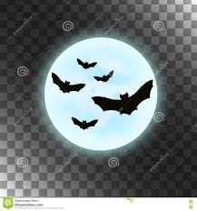 halloween background silhouettes vector bats with moon halloween illustration stock vector