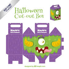 Halloween Cut Outs Free Halloween Cut Out Box Vector Templates