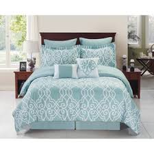 demetri navy blue and white 8 piece trellis comforter set free