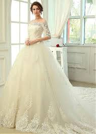 a line wedding dresses shop discount shoulder tulle a line organza half sleeve