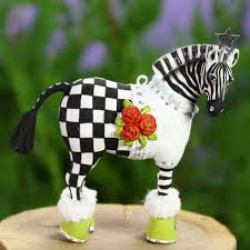patience brewster mini zebra ornament