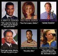 Sitcom Meme - 90 s sitcom character alignment chart by ben meme center