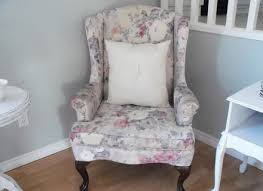 Wing Chair Cover Wingback Chair Slipcover View Details U003e Rich Smooth And Sleek