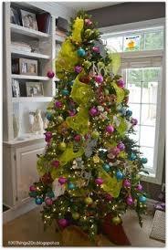 ho ho home purple trees limes and turquoise