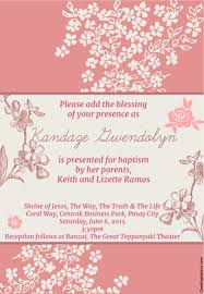 Baptismal Invitation Card Maker Free Download Baptismal Reception Near Mall Of Asia Chet Learns New Today