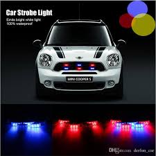 red and white led emergency lights 6x3 led police car warning strobe lights flash firemen bule red