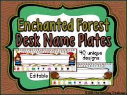 enchanted forest desk name plates 40 unique designs editable