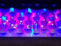 Stage Backdrops Custom Built Wall And Stage Backdrop Led Lighting And Monograms