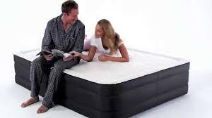 air comfort deep sleep raised air mattress w built in air pump