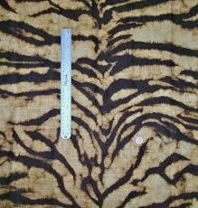 schumacher tigre linen print fabric golden brown