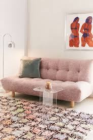 Pink Sleeper Sofa 10 Sleeper Sofas That Will Fit In Your Tiny Apartment Sleeper