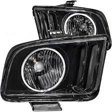 2005 Black Mustang Amazon Com 2005 2009 Ford Mustang Halo Headlights Lamps 8 Led