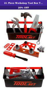 21 piece workshop tool box toy set for kids fun tool box this