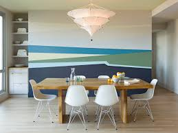 peel and stick vinyl tile in dining room modern with paint color