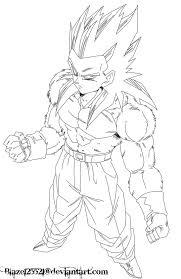 ball coloring pages goku super saiyan 4