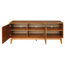 Tv Bench Sideboard Tv Cabinet Amherst Mid Century Modern Tv Stand Brown Project 62 Target