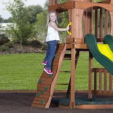 Diy Backyard Swing Set Backyard Discovery Santa Fe All Cedar Wood Playset Swing Set Diy