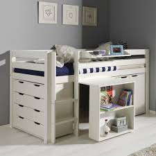 bureau pour lit mezzanine exceptionnel lit surélevé adulte bureau en pin massif pour lit