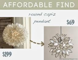 Round Capiz Chandelier Design Dump Affordable Find Lighting Round Up World Market