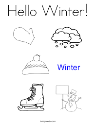 Hello Winter Coloring Page Twisty Noodle Hello Tree Coloring Page