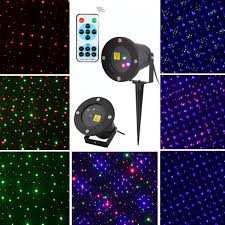outdoor lawn dynamic laser projector lights stage garden christmas