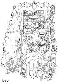 christmas coloring pages complex images collections hd