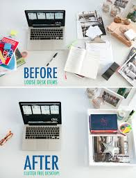 Organize Office Desk Organize Your Desk With A Serving Tray Organize Pinterest