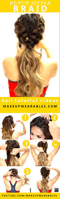directions for easy updos for medium hair 3 cutest braided hairstyles mohawk braid messy bun