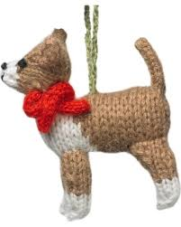 amazing deal on knit chihuahua ornament set of 2