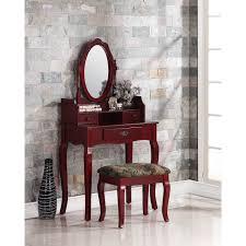 Rustic Vanity Table Rustic Vanity Table Set Makeup Dressing Desk Oval Mirror Stool