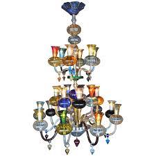 Blown Glass Chandeliers Sale Multicolored Blown Glass Chandelier For Sale At 1stdibs