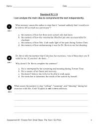 main idea worksheets middle the best and most