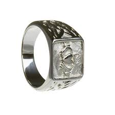 signet wedding ring mens claddagh signet ring