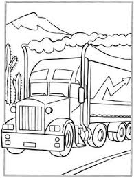 printable load truck coloring book boy