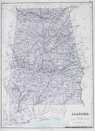 Map Alabama Alabama Antique Maps And Charts U2013 Original Vintage Rare
