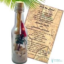 wedding invitations in a bottle palm paradise bottle by invitationinabottle