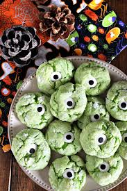 monster eye halloween cookies u2014 darling be brave