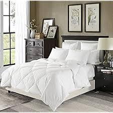 White Down Comforters Amazon Com Luxury Lightweight Down Comforter Solid White Corner