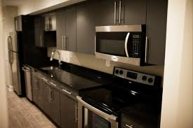townhouse basement galley kitchen contemporary kitchen new