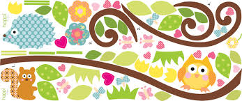 happi baby scroll tree branch wall stickers girls wall stickers
